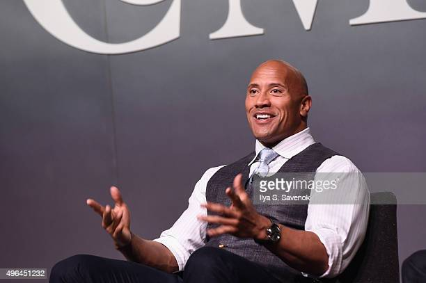 Actor Dwayne 'The Rock' Johnson speaks onstage during 'The Next Intersection For Hollywood with William Morris Endeavor's Ari Emanuel Patrick...