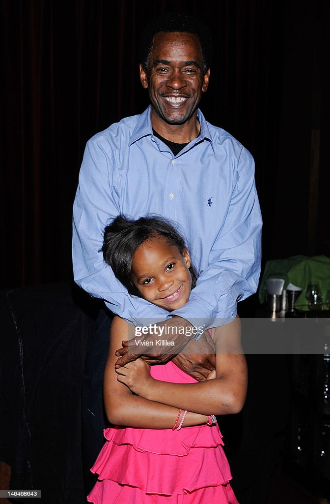 Actor Dwight Henry and Quvenzhane Wallis attend 'Beasts Of The Southern Wild' Special Screening - Panel And Q&A at Soho House on June 16, 2012 in West Hollywood, California.