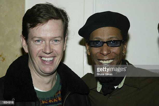 Actor Dylan Baker with actor Ron Cephas Jones at the opening night party for 'Our Lady of 121st Street' at the Union Square Theatre New York Film...