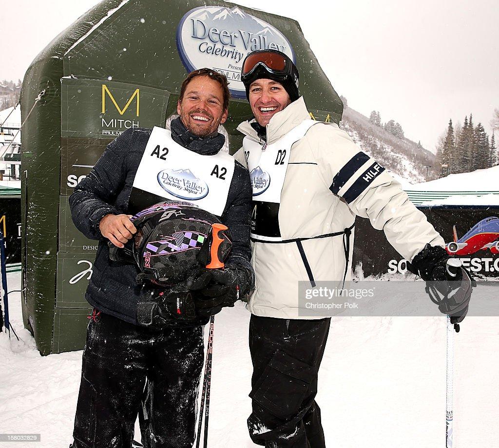 Actor Dylan Bruno and Actor/Singer/Songwriter Matthew Morrison attend the Deer Valley Celebrity Skifest at Deer Valley Resort on December 9, 2012 in Park City, Utah.