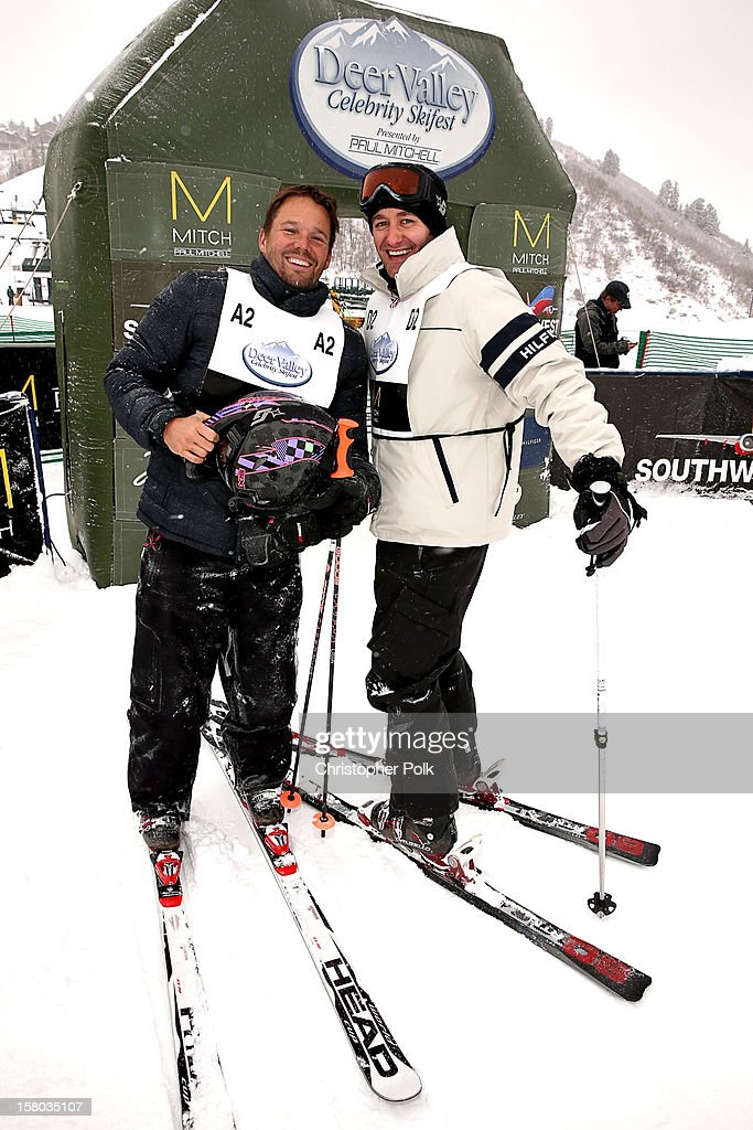 Actor Dylan Bruno and Actor/Singer/Songwriter Matthew Morrison attend the Deer Valley Celebrity Skifest at Deer Valley Resort on December 9, 2012 in Park City, Utah.