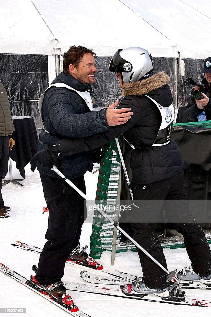 Actor Dylan Bruno and Emmeli Bruno attend the Deer Valley Celebrity Skifest at Deer Valley Resort on December 9, 2012 in Park City, Utah.