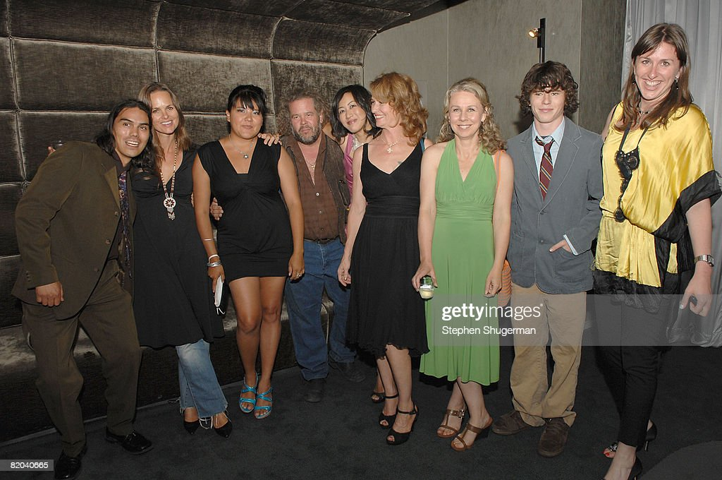 Actor Dylan Carusona, producer Heather Rae, actor <a gi-track='captionPersonalityLinkClicked' href=/galleries/search?phrase=Misty+Upham&family=editorial&specificpeople=4835047 ng-click='$event.stopPropagation()'>Misty Upham</a>, actor Mark Boone Junior, actor Betty Ouyang, actor Melissa Leo, director Courtney Hunt, actor Charlie McDermott and co-producer Molly Conners attend the after party following the premiere of Sony Pictures Classics' 'Frozen River' at the Pacific Design Center on July 22, 2008 in West Hollywood, California.