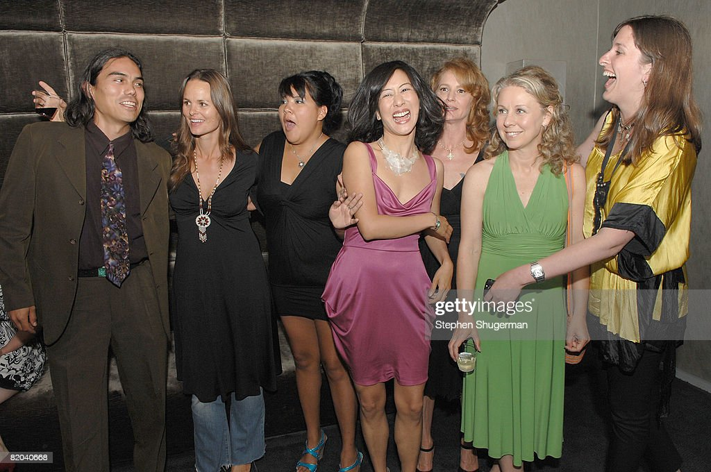 Actor Dylan Carusona, producer Heather Rae, actor <a gi-track='captionPersonalityLinkClicked' href=/galleries/search?phrase=Misty+Upham&family=editorial&specificpeople=4835047 ng-click='$event.stopPropagation()'>Misty Upham</a>, actor Betty Ouyang, actor Melissa Leo, director Courtney Hunt and co-producer Molly Conners attend the after party following the premiere of Sony Pictures Classics' 'Frozen River' at the Pacific Design Center on July 22, 2008 in West Hollywood, California.