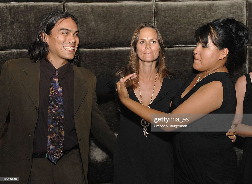 Actor Dylan Carusona, producer Heather Rae and actor <a gi-track='captionPersonalityLinkClicked' href=/galleries/search?phrase=Misty+Upham&family=editorial&specificpeople=4835047 ng-click='$event.stopPropagation()'>Misty Upham</a> attend the after party following the premiere of Sony Pictures Classics' 'Frozen River' at the Pacific Design Center on July 22, 2008 in West Hollywood, California.