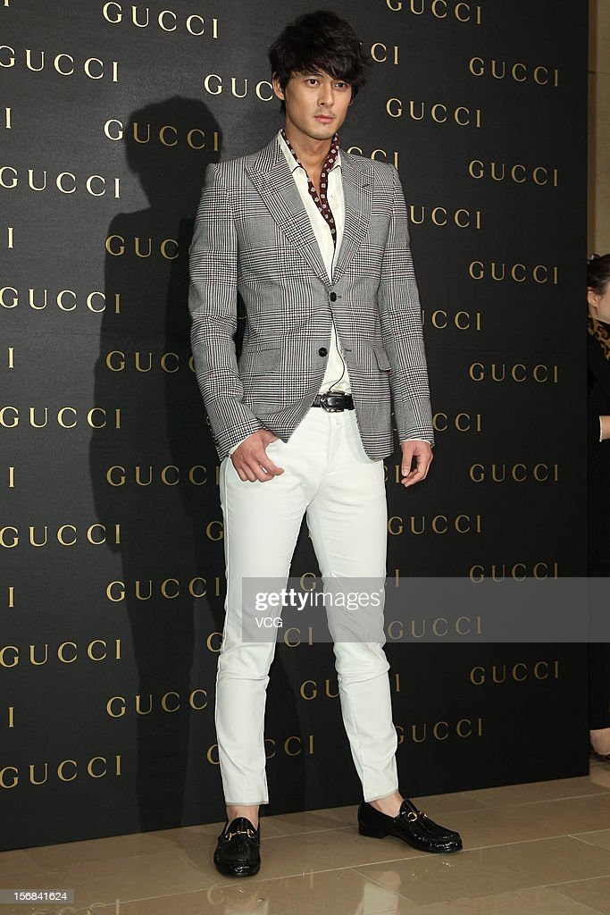 Actor Dylan Kuo attends Gucci store opening ceremony at Taipei 101 on November 22, 2012 in Taipei, Taiwan.