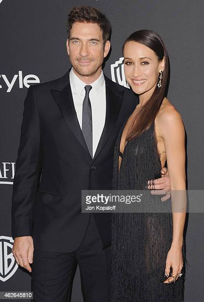 Actor Dylan McDermott and actress Maggie Q arrive at the 16th Annual Warner Bros And InStyle PostGolden Globe Party at The Beverly Hilton Hotel on...