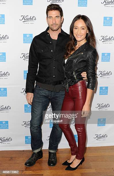 Actor Dylan McDermott and fiance actress Maggie Q arrive at Kiehl's 2015 Earth Day Project With Elizabeth Olsen And Maggie Q at Kiehls Since 1851...