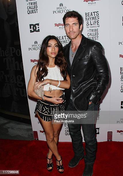 Actor Dylan McDermott and guest arrive at the 'Beats Rhymes Life The Travels Of A Tribe Called Quest' after party at Rolling Stone Restaurant And...
