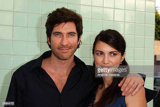 Actor Dylan McDermott and his wife actress Shiva Rose arrive at the fundraising reception and ceremonial ribbon cutting at the new Edgemar Center for...