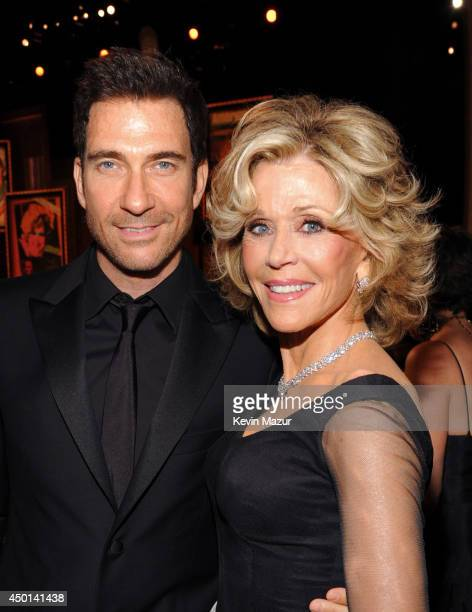 Actor Dylan McDermott and honoree Jane Fonda attend the 2014 AFI Life Achievement Award A Tribute to Jane Fonda at the Dolby Theatre on June 5 2014...