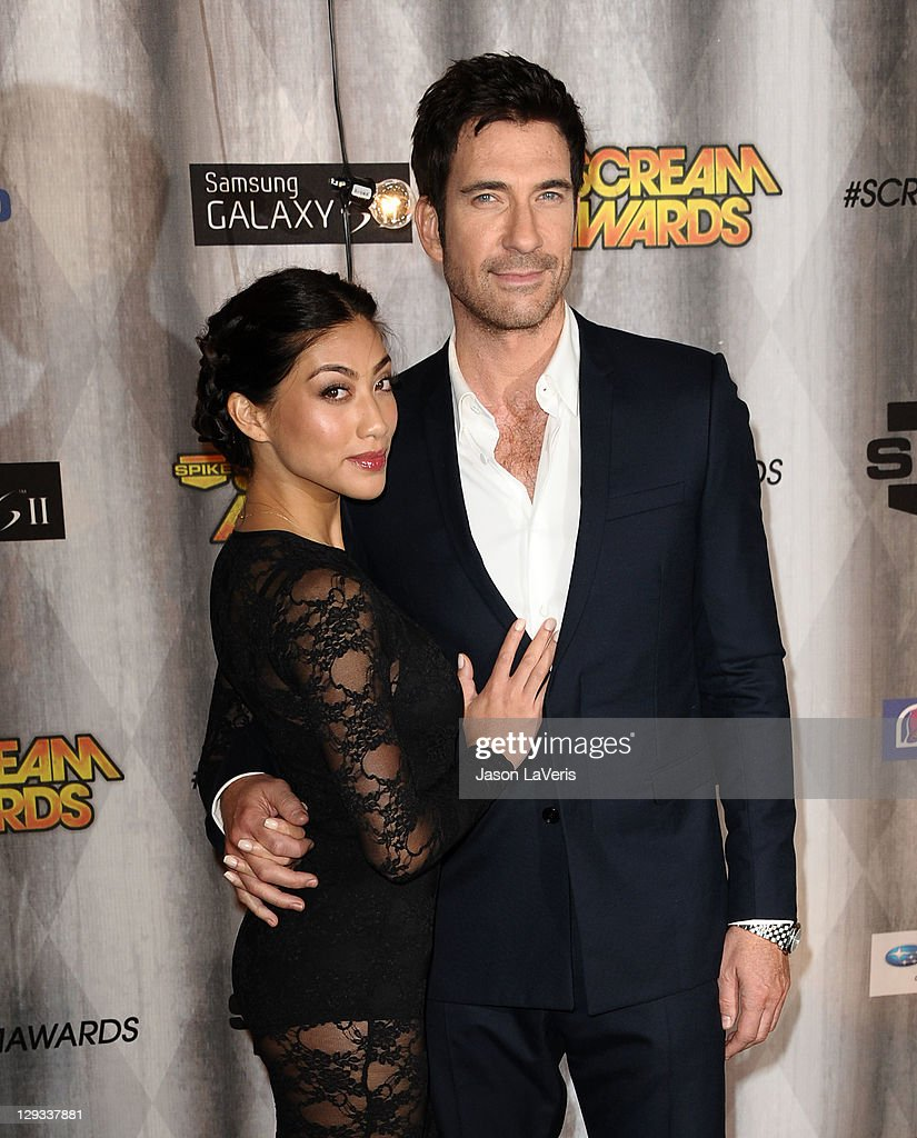 Actor Dylan McDermott (R) and Shasi Wells attend Spike TV's 2011 Scream Awards at Gibson Amphitheatre on October 15, 2011 in Universal City, California.