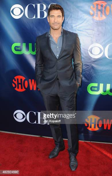 Actor Dylan McDermott arrives at the CBS The CW Showtime CBS Television Distribution 2014 Television Critics Association Summer Press Tour at Pacific...