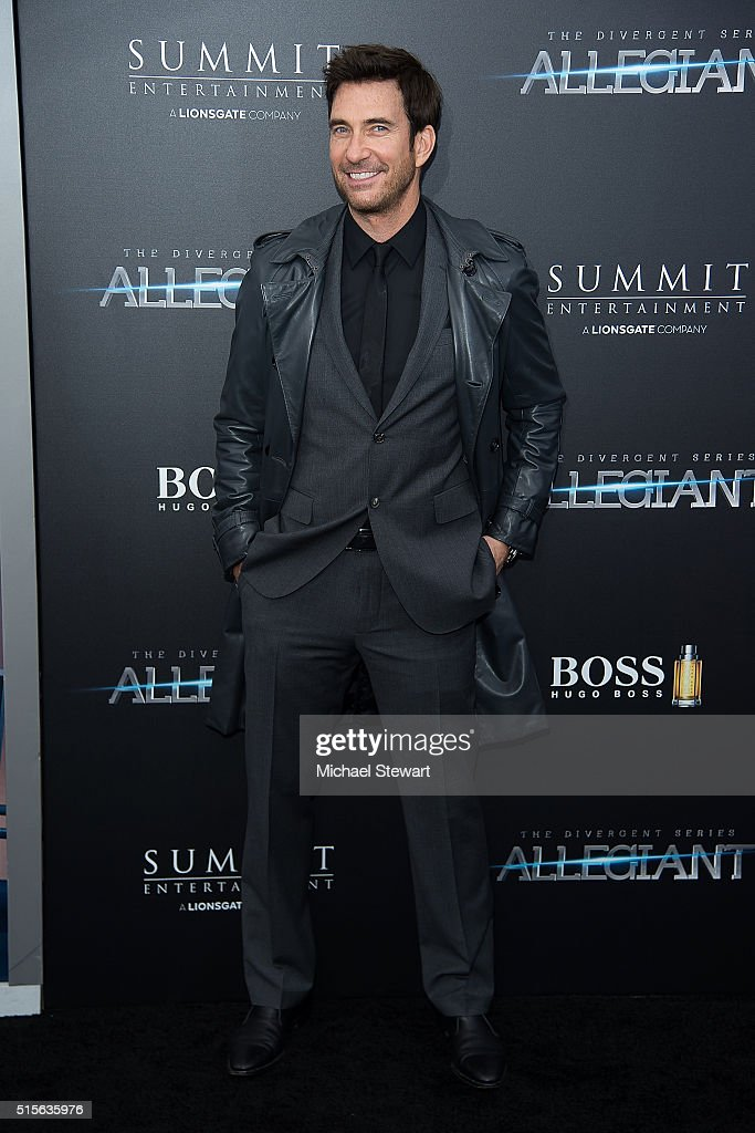 Actor <a gi-track='captionPersonalityLinkClicked' href=/galleries/search?phrase=Dylan+McDermott&family=editorial&specificpeople=211496 ng-click='$event.stopPropagation()'>Dylan McDermott</a> attends the 'Allegiant' New York premiere at AMC Lincoln Square Theater on March 14, 2016 in New York City.