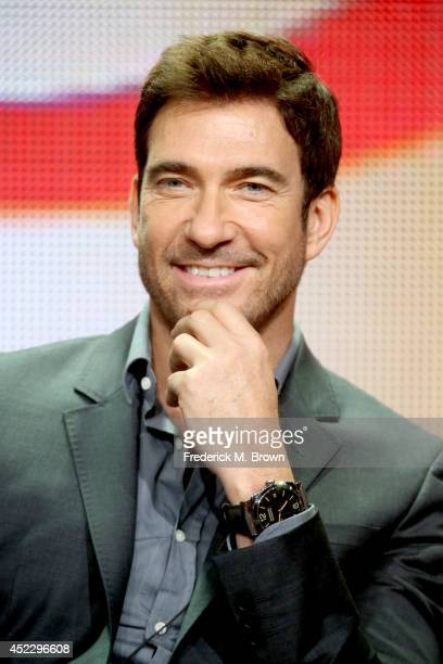 Actor Dylan McDermott speaks onstage at the 'Stalker' panel during the CBS Network portion of the 2014 Summer Television Critics Association at The...