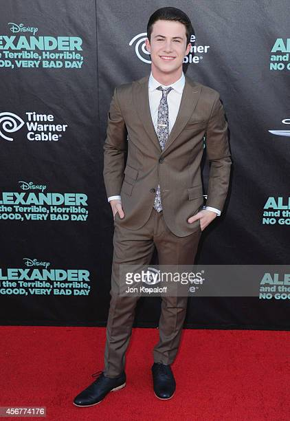 Actor Dylan Minnette arrives at the Los Angeles Premiere 'Alexander And The Terrible Horrible No Good Very Bad Day' at the El Capitan Theatre on...