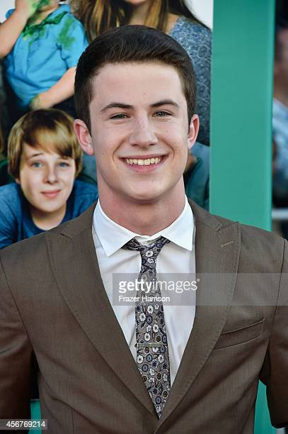 Actor Dylan Minnette attends the premiere of Disney's 'Alexander and the Terrible Horrible No Good Very Bad Day' at the El Capitan Theatre on October...
