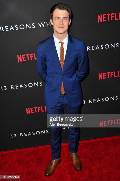 Actor Dylan Minnette attends the Premiere of Netflix's '13 Reasons Why' at Paramount Pictures on March 30 2017 in Los Angeles California
