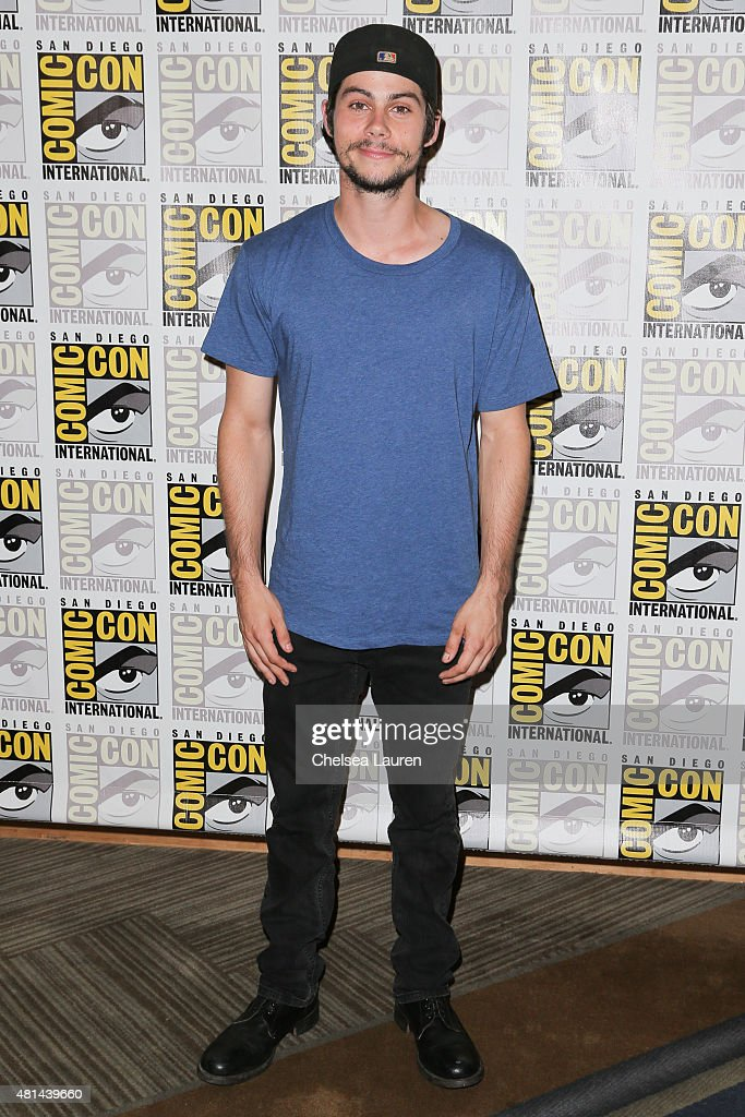 Actor Dylan O'Brien arrives at the 'Maze Runner' press room on July 11, 2015 in San Diego, California.