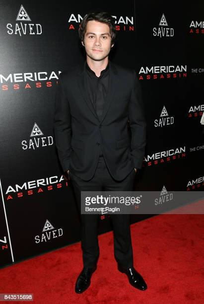 Actor Dylan O'Brien attends The Cinema Society Saved wines screening of CBS Films' 'American Assassin' at iPic Theater on September 6 2017 in New...