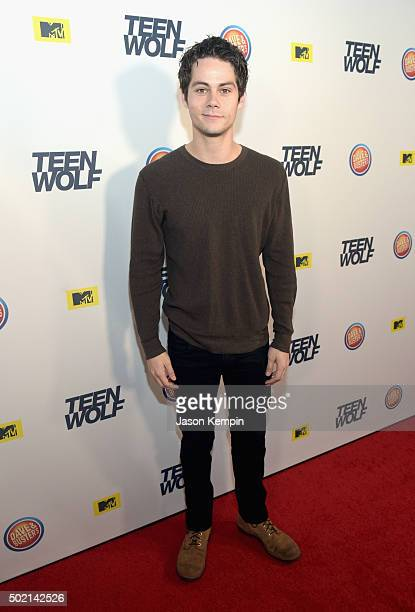 Actor Dylan O'Brien attends the MTV Teen Wolf Los Angeles Premiere Party on December 20 2015 in Hollywood California