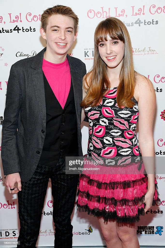 Actor Dylan Riley Snyder (L) and actress Hannah Leigh attend the 4th Annual Tutus4Tots Event at Together We Rise on February 2, 2013 in Chino, California.