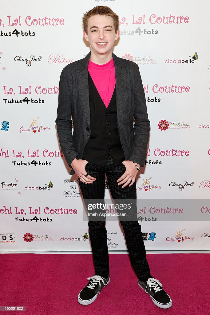Actor Dylan Riley Snyder attends the 4th Annual Tutus4Tots Event at Together We Rise on February 2, 2013 in Chino, California.