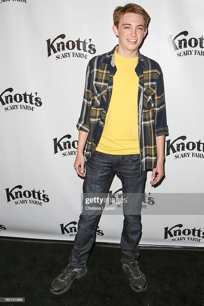 Actor Dylan Riley Snyder attends the Knott's Scary Farm 'Haunt' VIP Opening Night Party at Knott's Berry Farm on October 3, 2013 in Buena Park, California.
