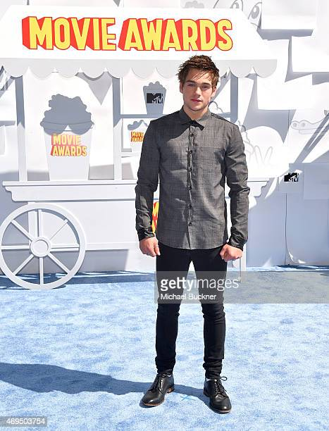 Actor Dylan Sprayberry attends The 2015 MTV Movie Awards at Nokia Theatre LA Live on April 12 2015 in Los Angeles California