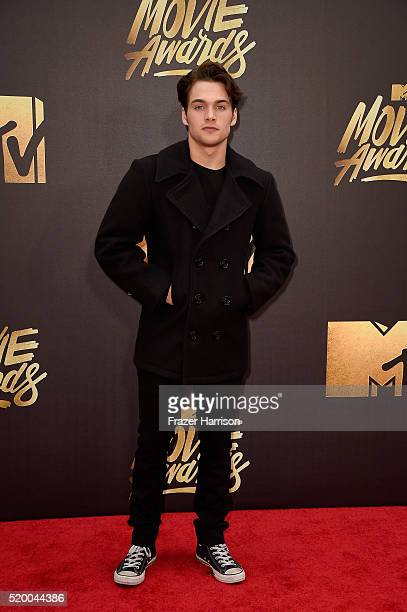 Actor Dylan Sprayberry attends the 2016 MTV Movie Awards at Warner Bros Studios on April 9 2016 in Burbank California MTV Movie Awards airs April 10...