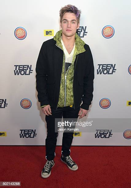 Actor Dylan Sprayberry attends the MTV Teen Wolf Los Angeles Premiere Party on December 20 2015 in Hollywood California
