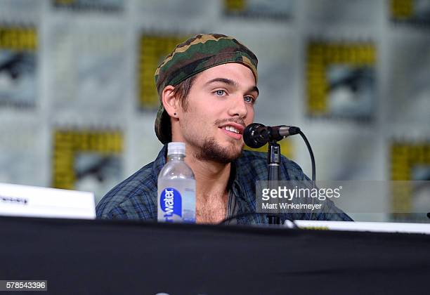 Actor Dylan Sprayberry attends the 'Teen Wolf' panel during ComicCon International 2016 at San Diego Convention Center on July 21 2016 in San Diego...