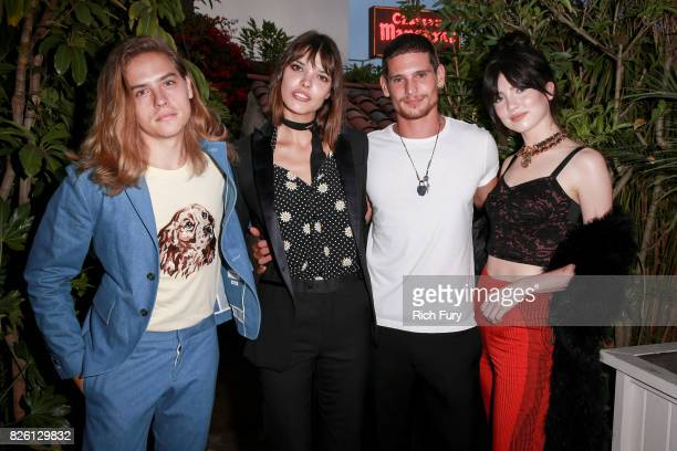 Actor Dylan Sprouse director Eva Dolezalova actor Jeremie Lahuerte and actor Maya Henry attend the 'Carte Blanche' cast dinner and reception at the...