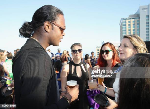 Actor Echo Kellum and guests at BuzzFeed The CW Present SRSLY The Best Damn Superhero Party on July 21 2017 in San Diego California