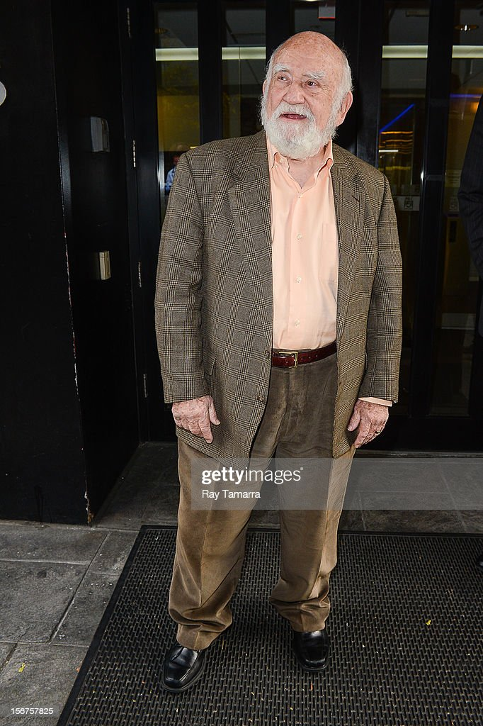 Actor Ed Asner leaves the 'Good Day New York' taping at the Fox 5 Studios on November 20, 2012 in New York City.
