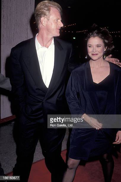 Actor Ed Begley Jr and actress Annette Bening attend 'The Grifters' Century City Premiere on January 15 1991 at Cineplex Odeon Century Plaza Cinemas...