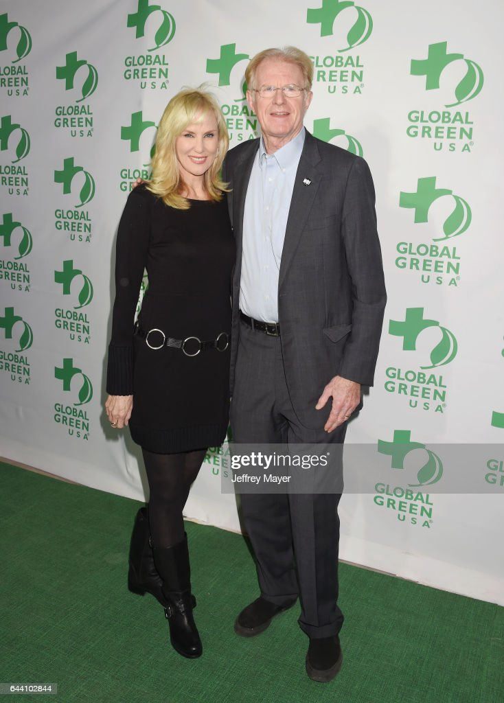 Actor Ed Begley Jr. (R) and wife Rachelle Carson arrive at the 14th Annual Global Green Pre-Oscar Gala at TAO Hollywood on February 22, 2017 in Los Angeles, California.