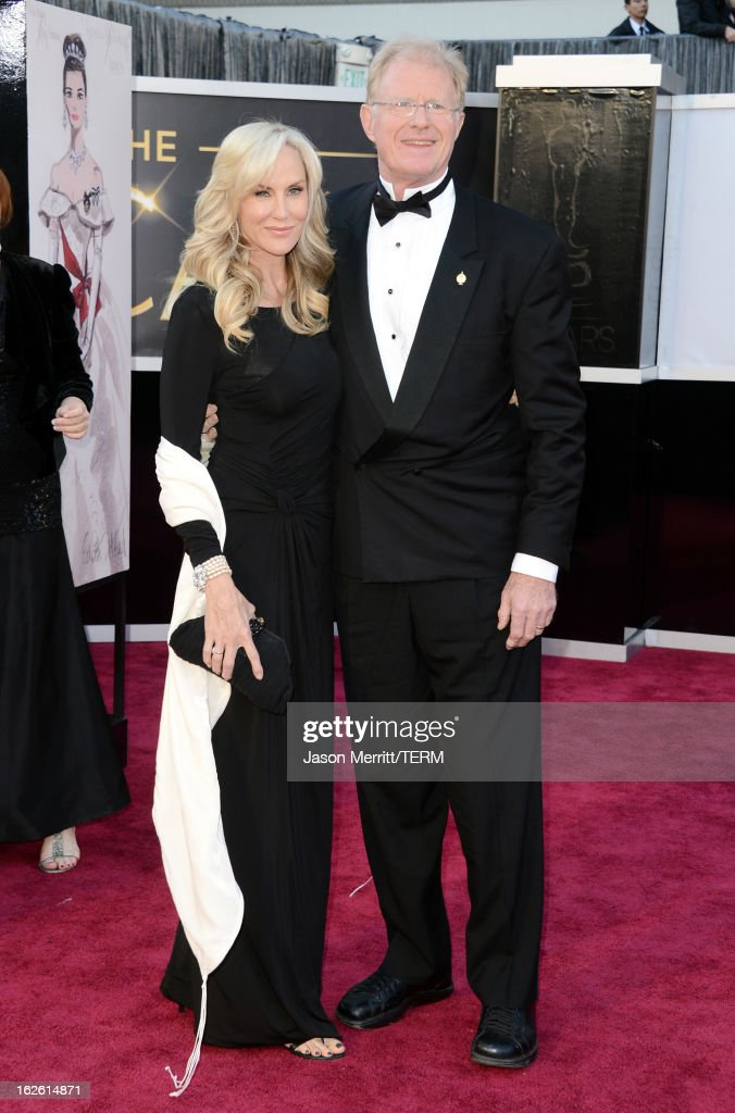 Actor Ed Begley Jr. (R) and wife Rachelle Carson arrive at the Oscars at Hollywood & Highland Center on February 24, 2013 in Hollywood, California.