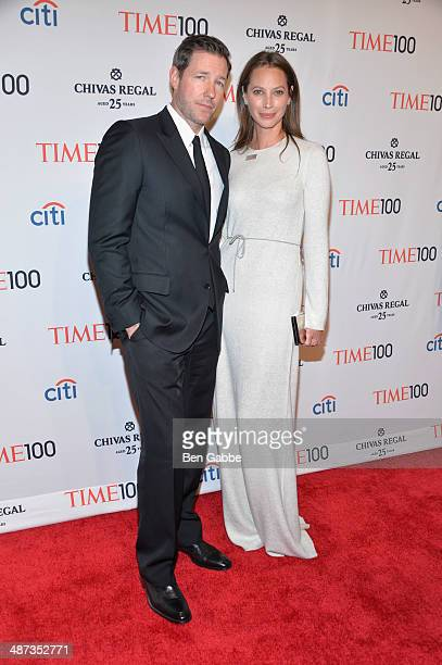 Actor Ed Burns and honoree Christy Turlington Burns attend the TIME 100 Gala TIME's 100 most influential people in the world at Jazz at Lincoln...