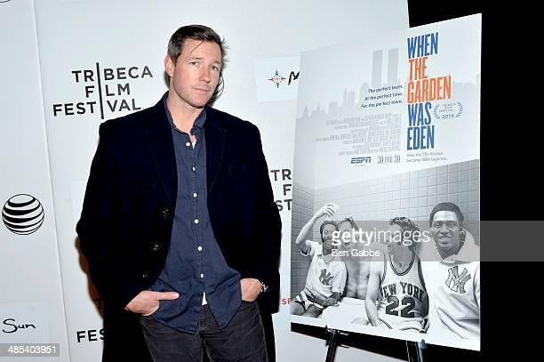 Actor Ed Burns attends the Tribeca/ESPN Sports Film Festival Gala 'When The Garden Was Eden' during the 2014 Tribeca Film Festival at BMCC Tribeca...
