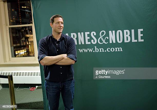 Actor Ed Burns poses for a photo at a book signing for his Book 'Independent Ed Inside A Career Of Big Dreams Little Movies And The Twelve Best Days...