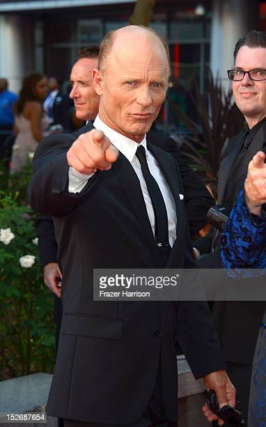 Actor Ed Harris arrives at the 64th Annual Primetime Emmy Awards at Nokia Theatre LA Live on September 23 2012 in Los Angeles California