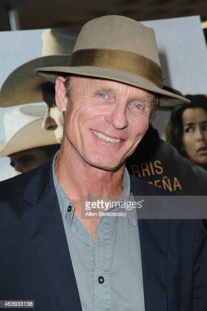 Actor Ed Harris attends the Los Angeles Premiere of 'Frontera' at Landmark Theatre on August 21 2014 in Los Angeles California