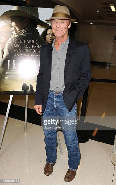 Actor Ed Harris attends the premiere of 'Frontera' at Landmark Theatre on August 21 2014 in Los Angeles California