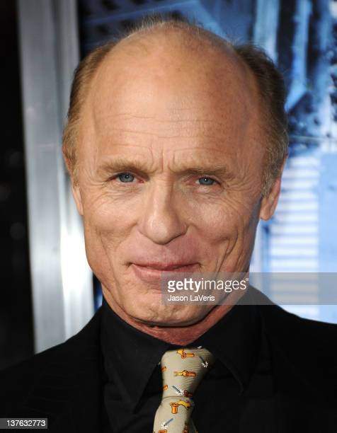 Actor Ed Harris attends the premiere of 'Man On A Ledge' at Grauman's Chinese Theatre on January 23 2012 in Hollywood California