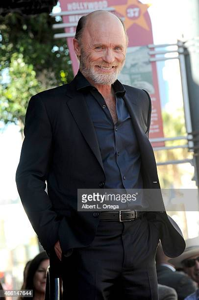 Actor Ed Harris Honored with a Star On The Hollywood Walk Of Fame on March 13 2015 in Hollywood California