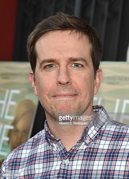 Actor Ed Helms arrives to the premiere of RADIUSTWC's 'The One I Love' at the Vista Theatre on August 7 2014 in Los Angeles California