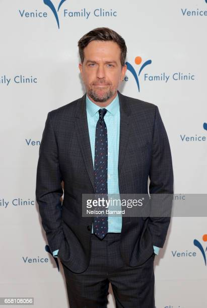 Actor Ed Helms at the Venice Family Clinic Silver Circle Gala 2017 honoring Sue Kroll and Dr Jimmy H Hara at The Beverly Hilton Hotel on March 26...