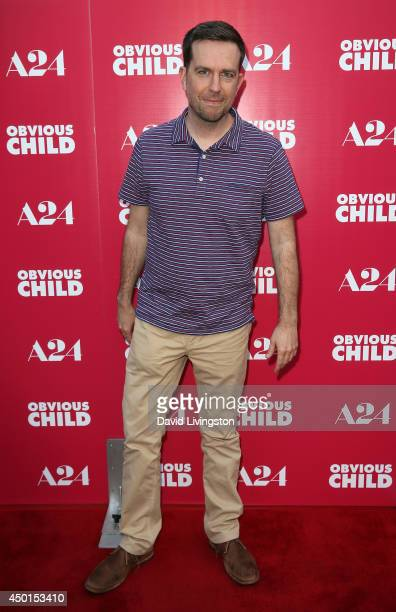 Actor Ed Helms attends a screening of A24's 'Obvious Child' at ArcLight Hollywood on June 5 2014 in Hollywood California