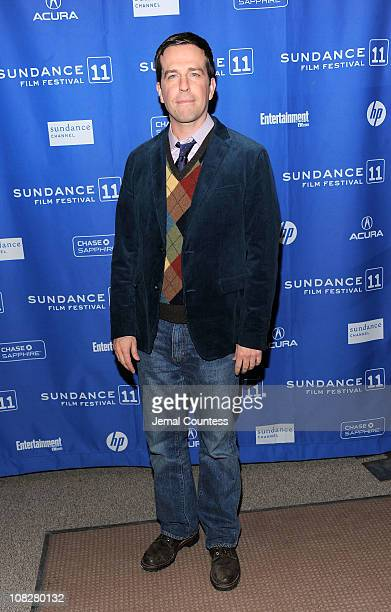 Actor Ed Helms attends the 'Cedar Rapids' Premiere at the Eccles Center Theatre during the 2011 Sundance Film Festival on January 23 2011 in Park...